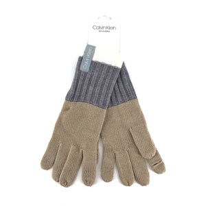 Calvin Klein Color Block Heathered Knit Gloves